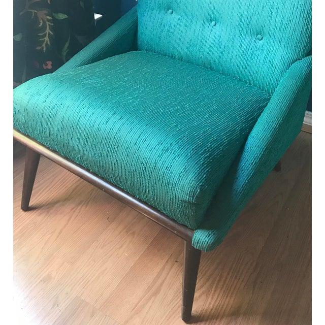 Teal Kroehler Slipper Chair - Image 7 of 8