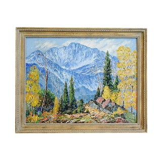 "Joe Sawhill ""Pikes Peak"" Mountain Landscape Oil Painting"
