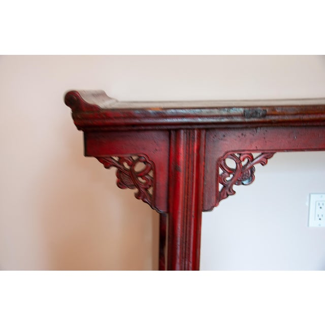 Chinese Red Altar Console Table For Sale In New York - Image 6 of 13