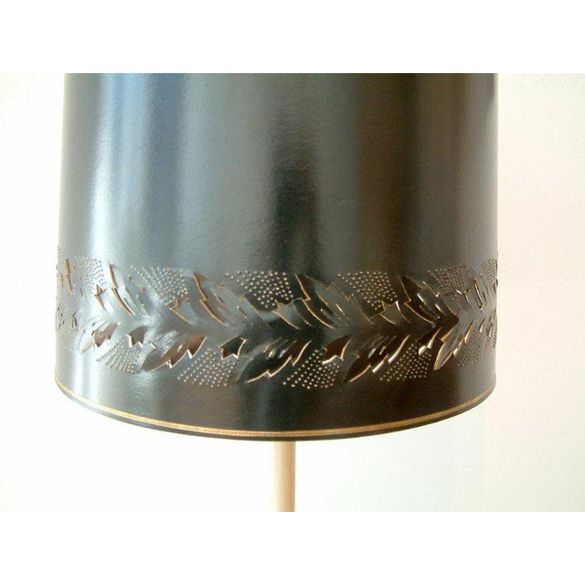 Circa 1950 Mid-Century attributed to Maison Jansen Bronze French Candle Table Lamp -1 - Image 7 of 9