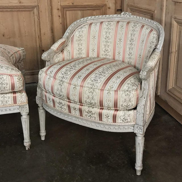19th Century French Louis XV Chaise Duchesse Brisee (Chaise Lounge) For Sale In Dallas - Image 6 of 13