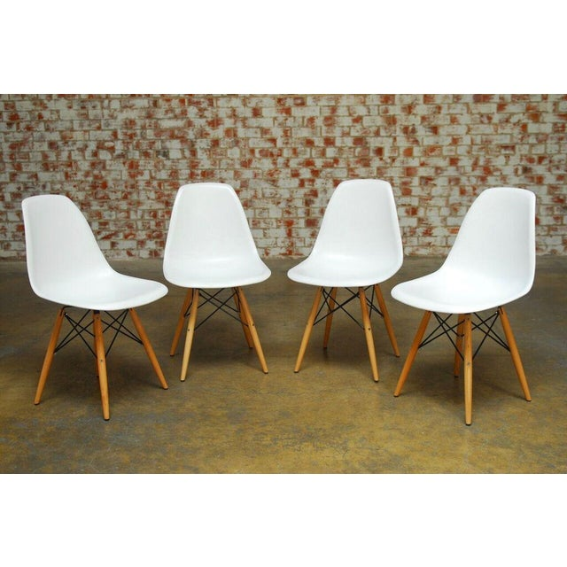 Set of Four Herman Miller Dsw Style Dining Chairs - Image 10 of 11