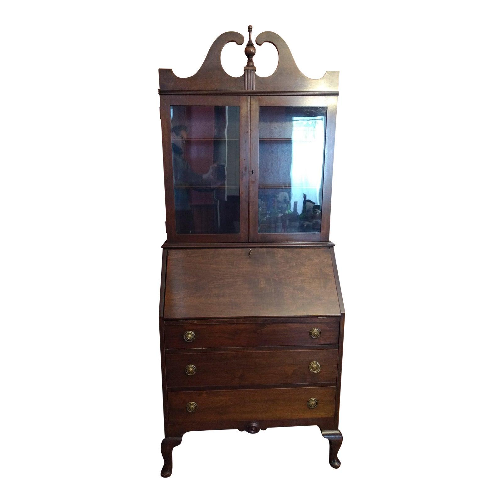 Illinois Rockford Cabinet Antique Secretary Desk