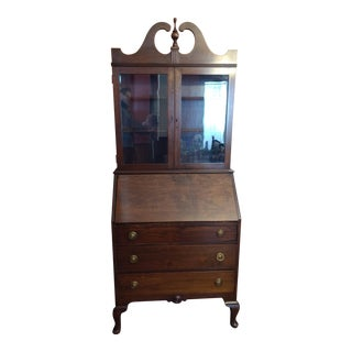 Illinois Rockford Cabinet Antique Secretary Desk