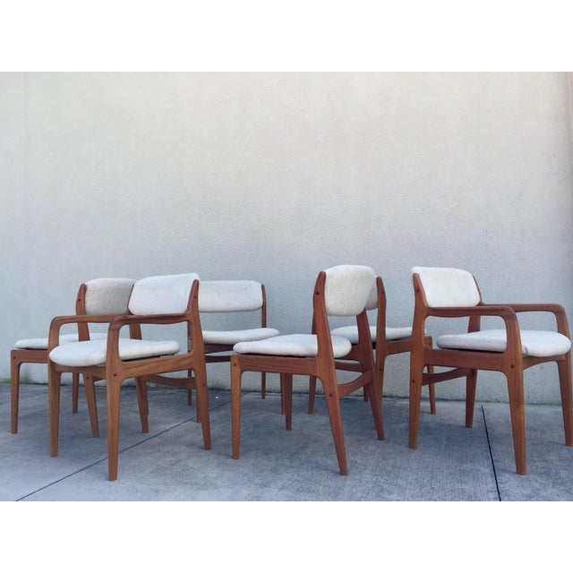 Mid-Century Benny Linden Dining Chairs - 6 For Sale - Image 4 of 10