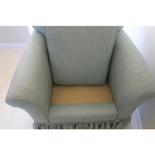 Blue Modern Oversized Upholstered Club Chair For Sale - Image 8 of 10