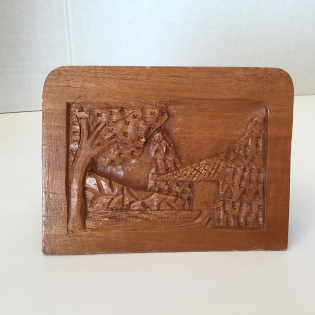 Hand Carved Wood Carvings - A Pair For Sale - Image 4 of 11