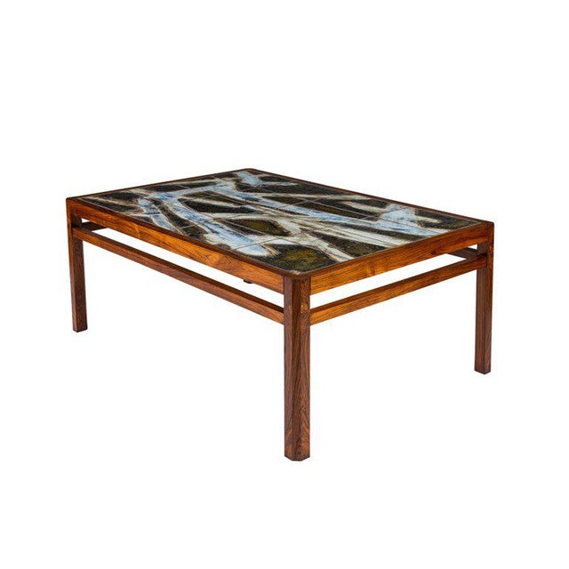 Danish Abstract Tile Coffee Table - Image 6 of 10