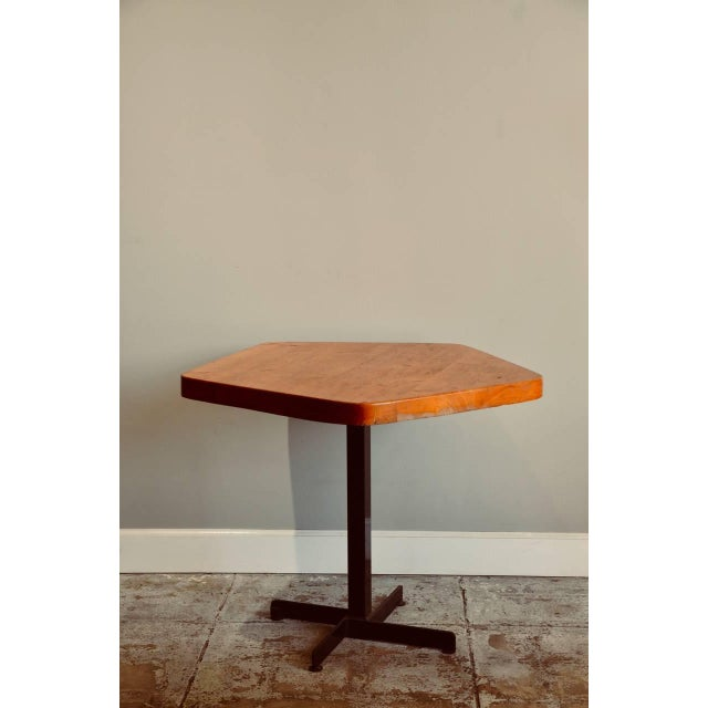 Pentagonal Pine Table by Charlotte Perriand for 'Les Arcs' Ski Resort For Sale - Image 9 of 9