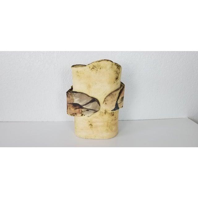 Ceramic 1985 Vintage Art Pottery With Landscape Motif, Signed For Sale - Image 7 of 11