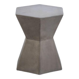 Kenneth Ludwig Concrete Hexagon Drinks Table For Sale