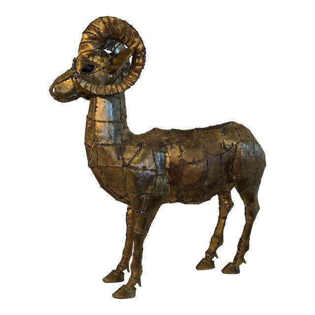 Luciano Bustamante Brass Patchwork Ram For Sale - Image 11 of 11