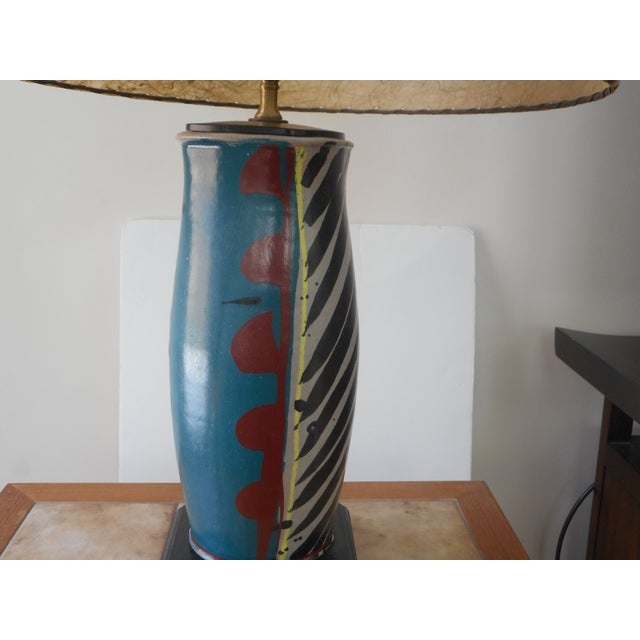 Mid-Century Pottery Lamp - Image 3 of 6