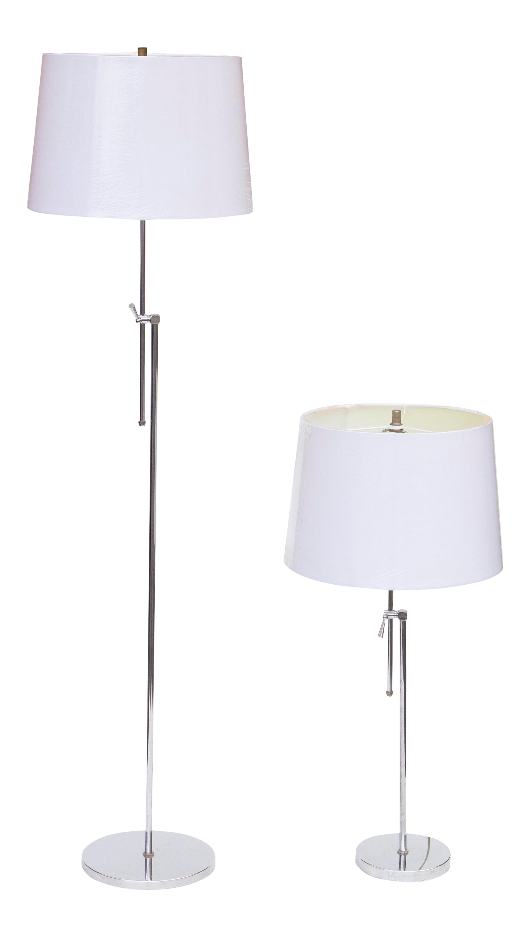 Picture of: Chrome Floor Lamp And Table Lamp Set Chairish