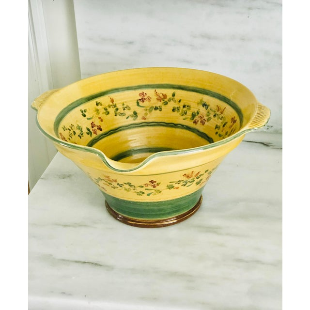 Large Hand Painted Italian Pasta Bowl For Sale - Image 9 of 9