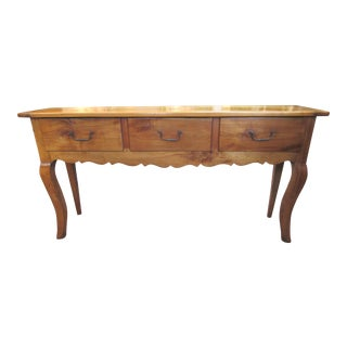 French Country Bench Made Sofa Table/Console For Sale