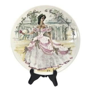 "Limoges Les Femmes Du Siecle, ""Scarlet"" Decorative Plate For Sale"
