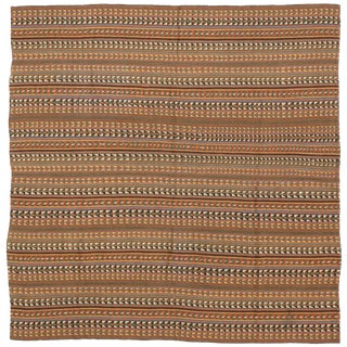 Antique Persian Jajim Flat-Weave Rug-5′ × 5′2″ For Sale