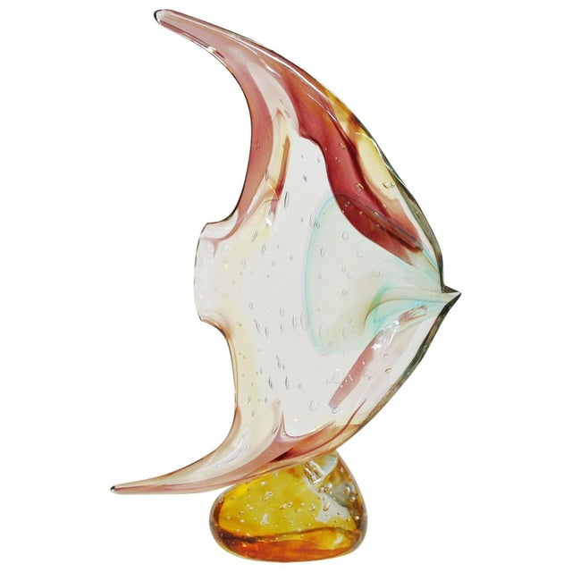 1990s Vintage Fish on Pebble Sculpture by Sergio Costantini For Sale - Image 9 of 9