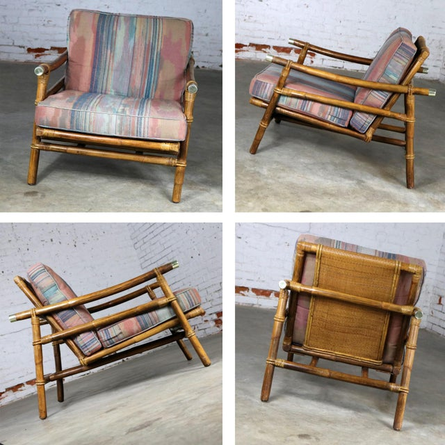 John Wisner for Ficks Reed Rattan Lounge Chair For Sale - Image 11 of 13