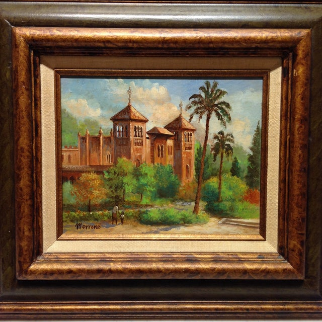 Mid-Century Modern Plaza De America, Seville Spain - Oil Painting For Sale - Image 3 of 11