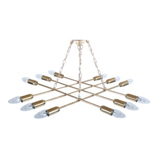 Ceiling lamp made of brass by Rupert Nikoll For Sale