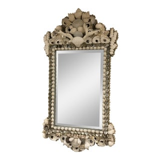 Antique Chippendale Shell Mirror For Sale