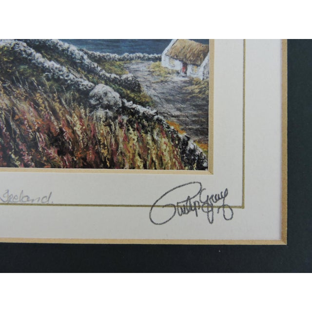 Signed Philip Grey Lithographs of Ireland - a Pair of Prints For Sale - Image 9 of 10