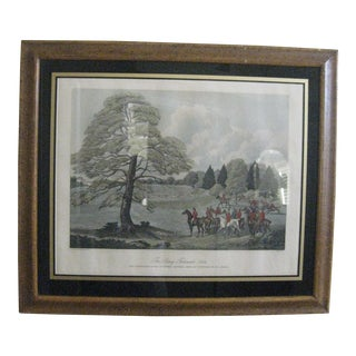 """Vintage """"The Surrey Foxhounds 1824"""" Print For Sale"""