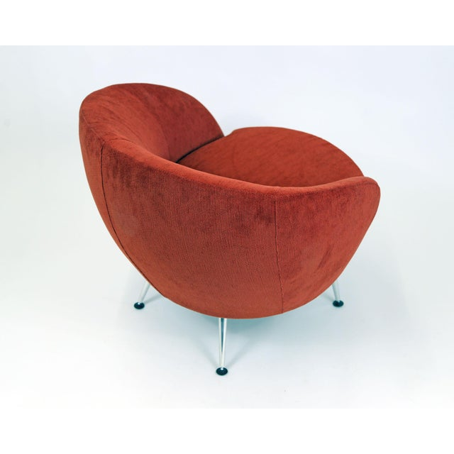 Brazilian Modern Mannes Curved Back Red Club Chair - Image 10 of 11
