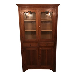 Antique Solid Oak Display Cabinet