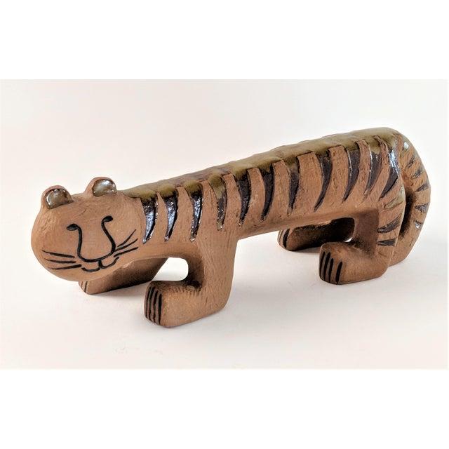 1970s Ceramic Tiger by Lisa Larson for Gustavsberg, 1970s For Sale - Image 5 of 13