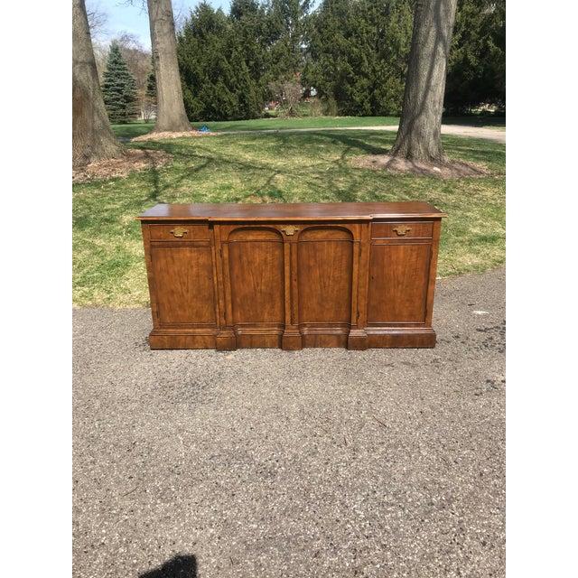 Art Deco Walnut Side Board byBaker Furniture For Sale - Image 9 of 9