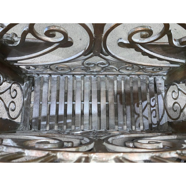 1960s Regency Style Bronzed Magazine Rack With Scrolled Design Lion Supports For Sale - Image 9 of 11