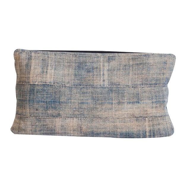African Indigo Handmade Pillow For Sale