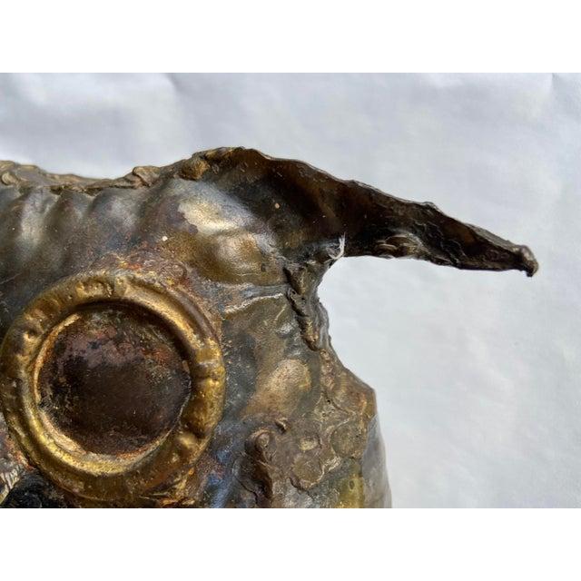 Curtis Jere Mid Century Brutalist Metal Owl For Sale - Image 4 of 11