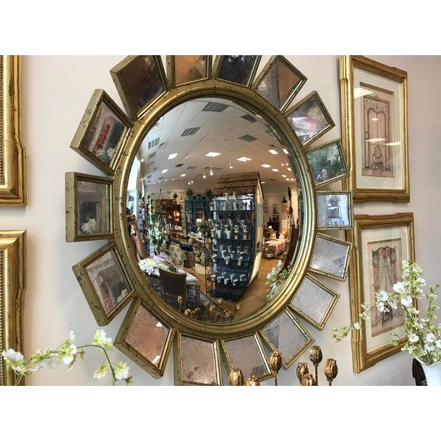 Silver Leaf & Mirrored Sunburst Wall Mirror - Image 3 of 5