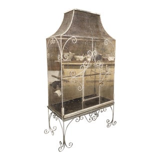 Large Antique French Birdcage, Circa 1915 For Sale