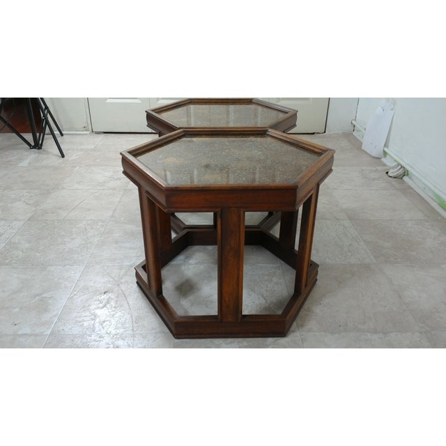 Wood 1960s Mid-Century Modern Brown and Saltman End Tables - a Pair For Sale - Image 7 of 12