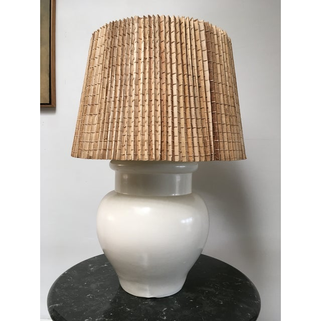 1960s Vintage White Ceramic Table Lamp For Sale - Image 10 of 11