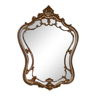 Mid 20th Century Rococo Double Frame Gilt Mirror For Sale