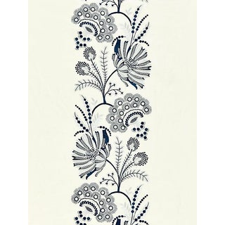 Sample, Scalamandre Annelise Embroidery, Porcelain Fabric For Sale