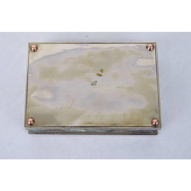 Silver Abalone and Silver Plate Box by Alpaca of Mexico For Sale - Image 8 of 10