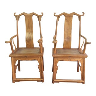 Pair of Antique Chinese Armchairs For Sale