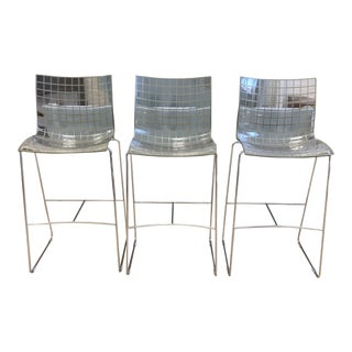 Knoll Marco Maran X3 Shell Barstools- Set of Three For Sale