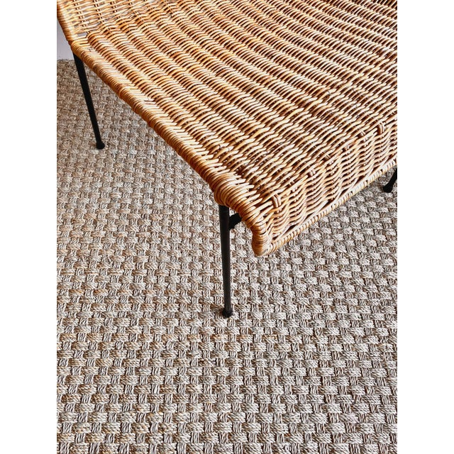 Franco Albini Vintage Mid-Century Modern Rattan Side Chair For Sale - Image 4 of 5