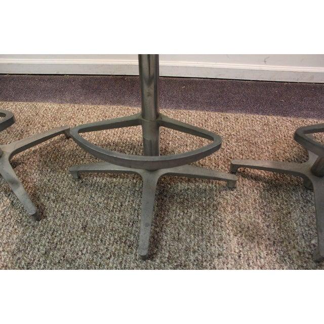 Chromcraft Mid-Century Zebra Bar Stools - Set of 6 - Image 10 of 10