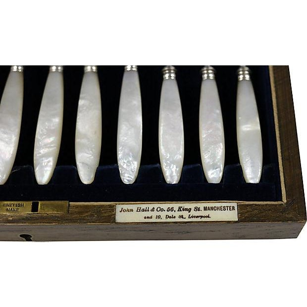 Antique Pearl Handled Sterling Flatware, D. 1918 - Service for 12 - Image 7 of 8