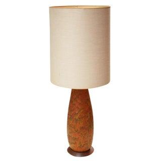Lava Glaze Ceramic Table Lamp after Fantoni For Sale
