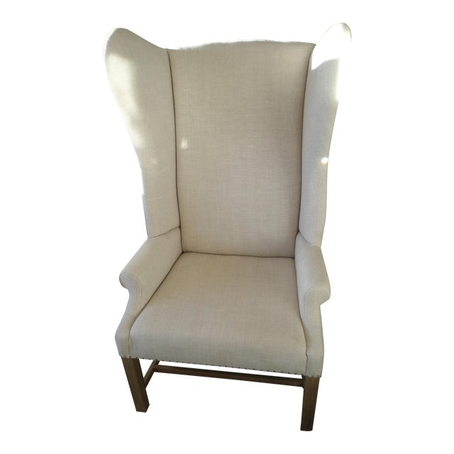 Restoration Hardware French Wingback Armchair Chairish
